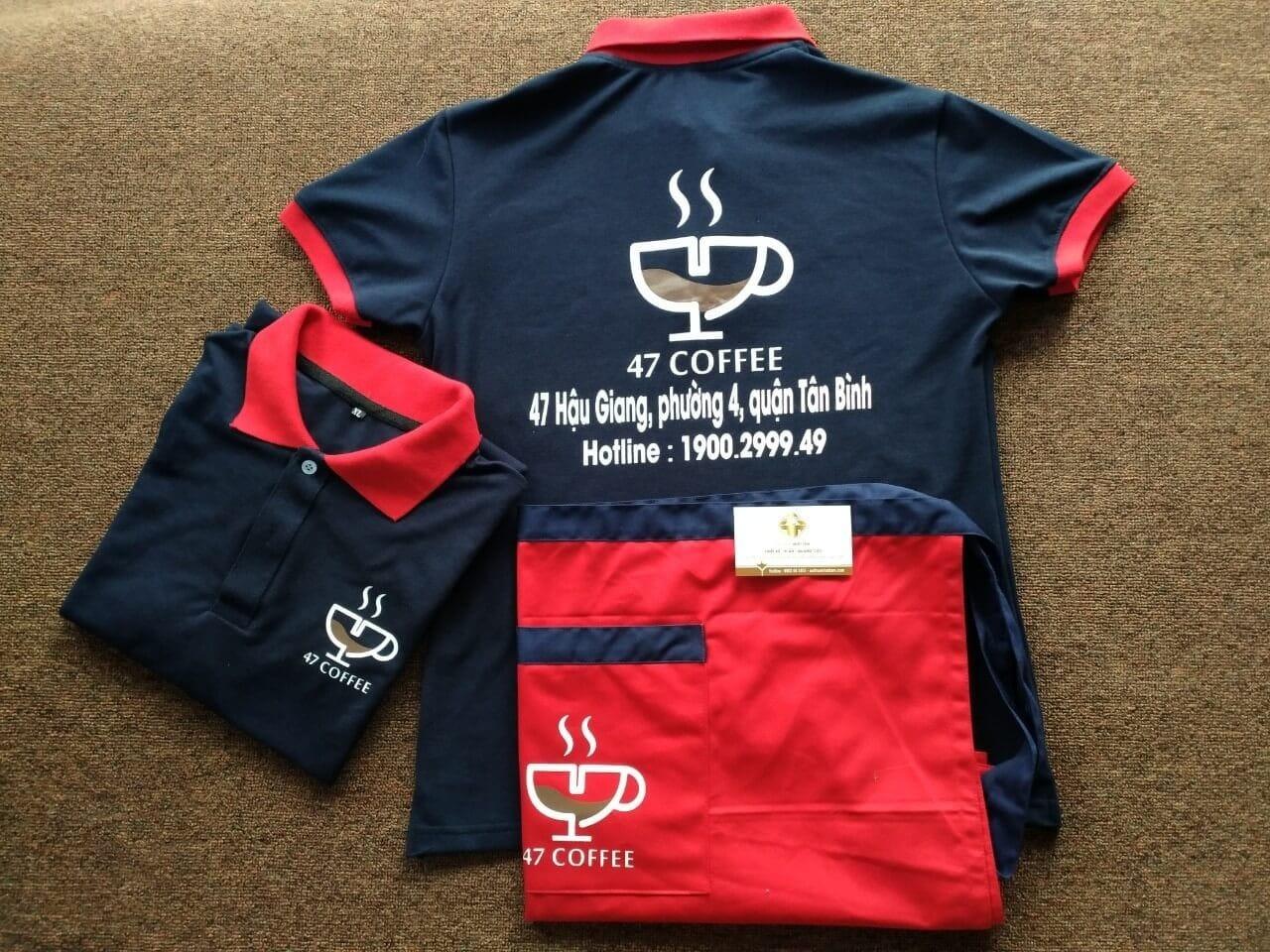Vải May áo Thun đồng Phục Cafe