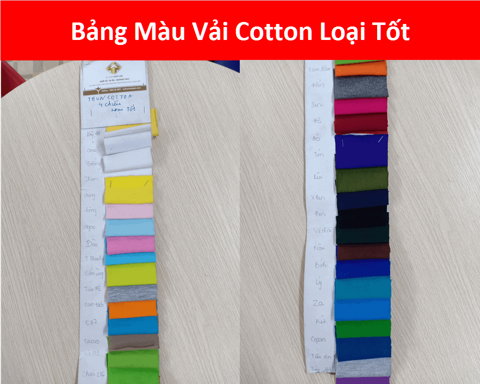 Bang Mau Vai Cotton Loai Tot