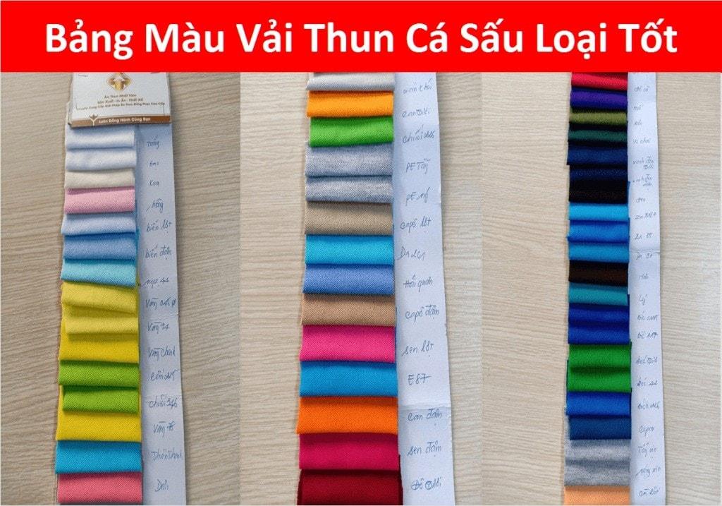 Mau Vai Thun Ca Sau Loai Tot Dong Phuc Team Building