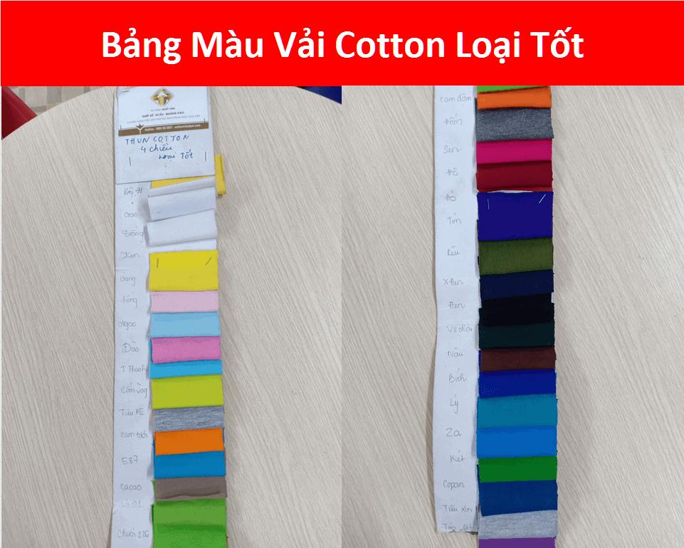 Mau Vai Thun Cotton Loai Tot Dong Phuc Team Building