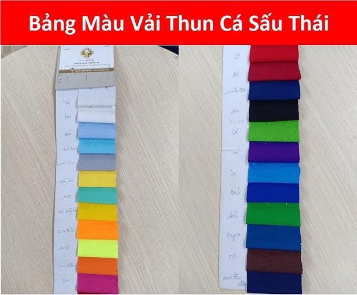 Bang Mau Vai Thun Ca Sau Thai