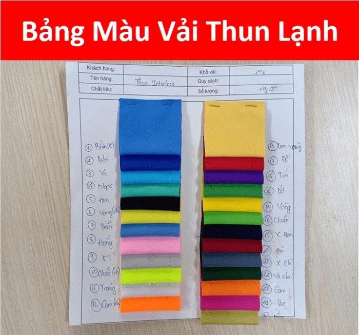 Bang Mau Vai Thun Lanh