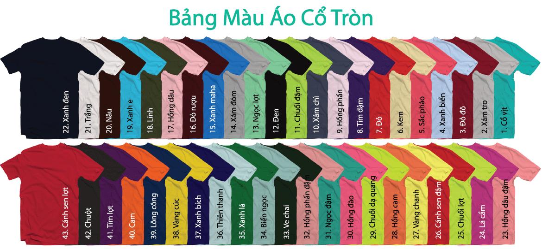 Bảng Màu Vải May áo Thun Cotton